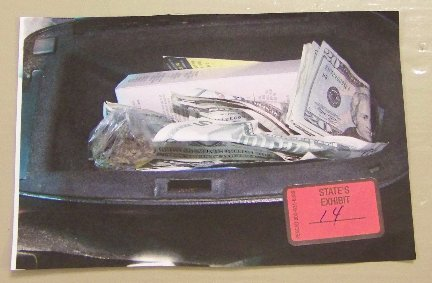 Sheldon Wormley Marijuana weed cash trophy glove box