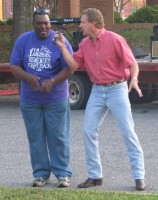Clarence Brooks & Doug Scallion, entertainers for the event