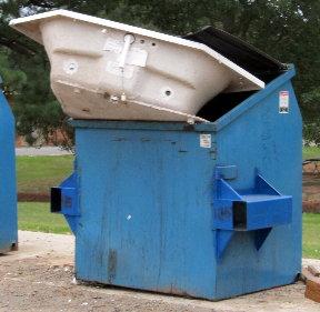 Jacuzzi dumpster