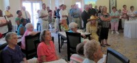 A crowd of around 100 gathered for the celebration, Tuesday.