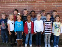 Kindergarten: Back Row: (L-R)-Dakota Hayes, Dakota Stults, Race Adcock, Rodney Daniels, Tanner Cater, Drew Burton Front Row: (L-R)-Graci Norris, Kierstyn Camden, Sayveiona Durden, Paige King, Alex Lewis, Patience Berry