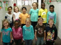 First Grade:  Back Row: (L-R)-Trinity Colbert, Ashton Berry, Daniel Diaz, Raven Harris, Omarion Pace, Aalanah Jones  Front Row: (L-R)-Elyssa Liechty, Kaiya Williams, Delaney White, Sam Wallis, Bobby Davis