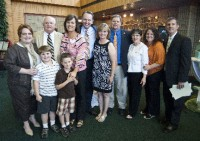 Ray, family and former students