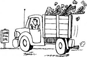 trash truck landfill