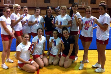 Drew Central High School Cheerleaders were recently recognized at