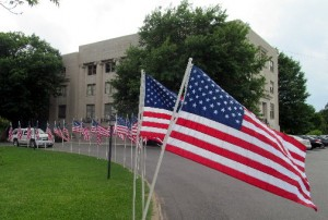 courthouse & flags