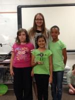 Timber Simpson, Sandra Mondragon, Ty'Kayla Lucas  In the back Brandie Collier teacher