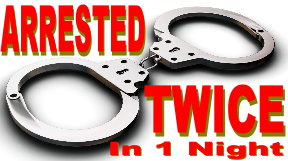 arrested twice
