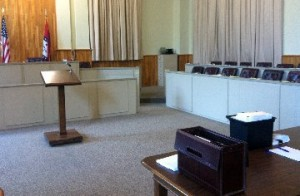 courtroom jury box trial