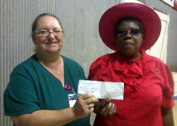 Lettie Washington won the $25 Drawing, Tuesday night at the Drew County Fair.