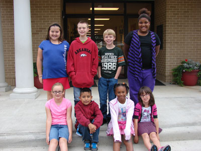 DC Fourth Grade Star Student of the Month for September   Back Row from Left: Bekah Brown, Austin Cruce, Ashton King, Briani Marshall Front Row from Left:  Madison Harris, Sabino Lucero, Meleri Herman, Maggie Defir Not Pictured: Juan Lucero