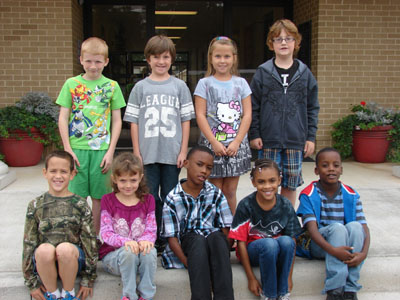 DC Third Grade Star Student of the Month for September       Back Row from Left: Austin West, Matthew Sullivan, Carley Whitehurst, Sam Wallis Front Row from Left: Ryan Sullivan, Hailey Moore, Nicholas Bailey, Meritza Spencer, DeCameron Bailey