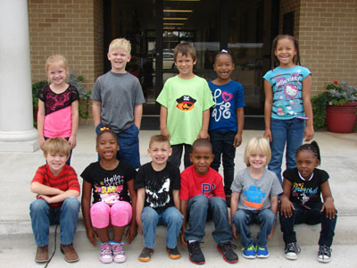DC Kindergarten Star Student of the Month for September     Back Row from Left: Presley Withers, Gregory Berryman, Jeremiah Bodiford, Krislyn Milton, Kazyria Simpson Front Row from Left: Brody Cater, Kennedi Lambert, Colton Vallun, Aiden Everett, Cooper Caldwell, Nyema Jackson
