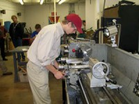 Cody Curtis, a junior from Monticello, competing in Precision Machining