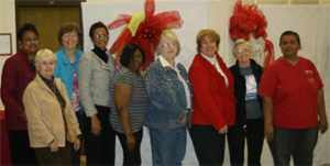 L-R: Hazelene McCray, Caroline Bullock, Judy Murphy, Vern Wilson, Donna Block, Brenda Chisom, Janet Carson, Patricia Kulbeth, and Sherry Toney