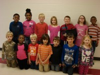 1st Grade Star StudentsBack Row (L to R)Tra'Bennett Fuller, Amari Lucas, Greg Berryman, Cadence Ledford, Evan Lee, Madison McArthur, Zae'vion Bullard Front Row (L to R)Alex Moorehead, Nyema Jackson, Cooper Caldwell, Mason Abedi, Scotty Neugebauer, Jeremiah Bodiford, Lexi Collier