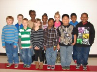 3rd Grade Star Students Back Row  (L to R)Jase Watt, Kassidie Gilbert, ReKena Block, Alivia Pharr, Kalani Collins Front Row (L to R)Dakota Hayes, Wyatt Wood, Patience Berry, Keyshawn Daniels, Gustavo Delacruz, Jordan Jefferson