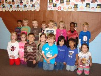 Kindergarten Star Students Front Row Left to Right: Adisyn Bodiford, Peyton Withers, Hunter Goudy, Hailey Burnette, Macs Cunningham, Angelisa Russell, Evelen Ruiz, Gracie Perez Back Row Left to Right: Aundre Allen, Johnny Say, John Keeling, Aiden West, Trent Burton, Anna McArthur, William Newhouse, Dalton Jordan