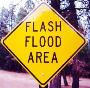 Flash flood flooding