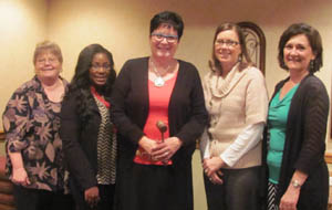 2015-2016 SEARK Reading Council Officers:  ( L to R):  Sheila Gardner, Membership/Treasurer; Titiana Brown, Secretary; Patti Smith, President; Karen Robinson, Vice President and Anita Skinner, Past President.