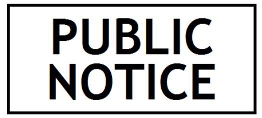 Public notice legal