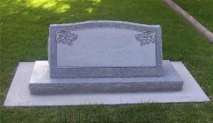 Grave cemetery stone marker