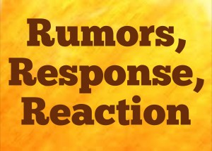 Rumors response reaction