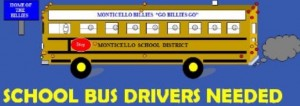 School bus driver Monticello