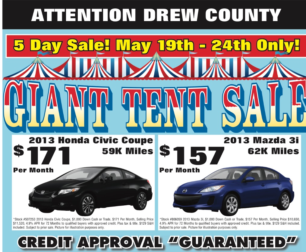 Giant Tent Sale Extended At Ryburn Motor Co Monticello Live