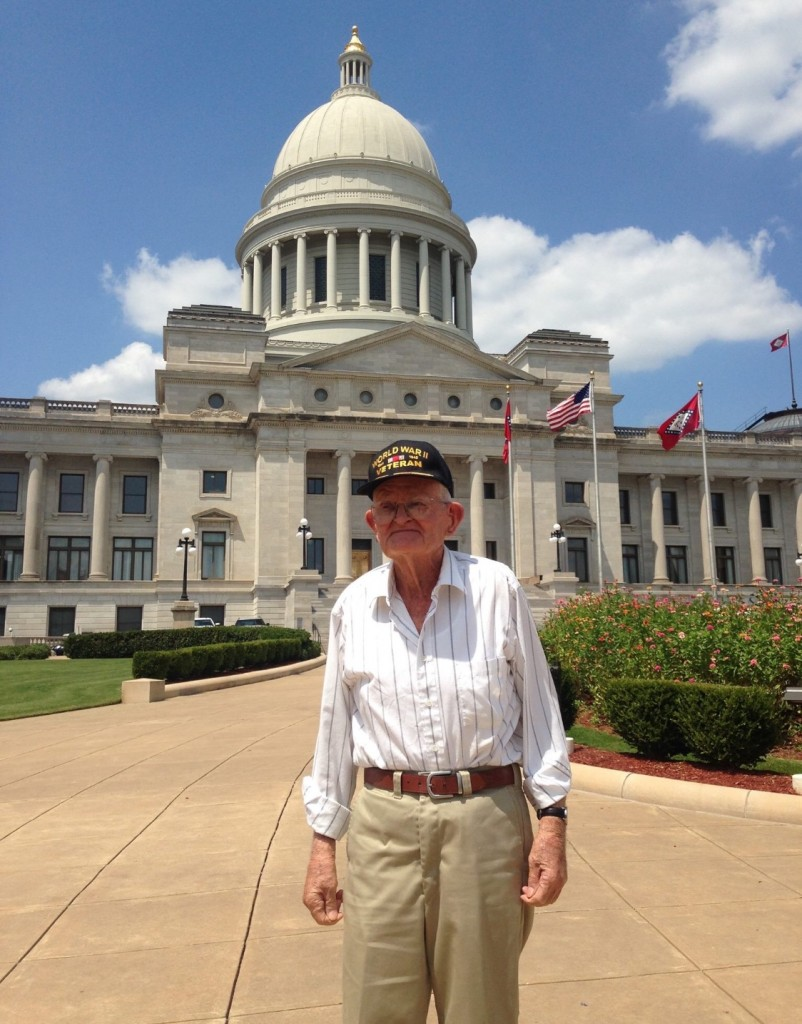 Mr. Elvin at the Washington D>C. Veteran's Memrial.