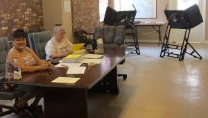 "Stop in and say ""hello"" to the early voting staff. Trust me, they are bored and want your company."