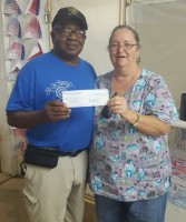 Drew County Fair's Friday night $25 drawing winner Carl Jacobs