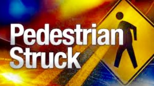 Pedestrian struck by a car