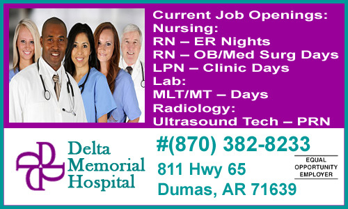 Current Job Openings At Delta Memorial Hospital | Monticello
