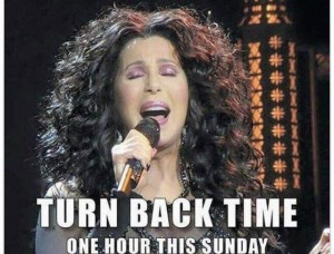 Turn back time change daylight savings