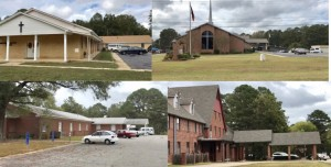 Polling places churches