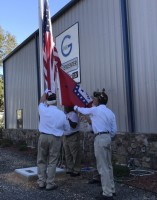 Posting of the colors.