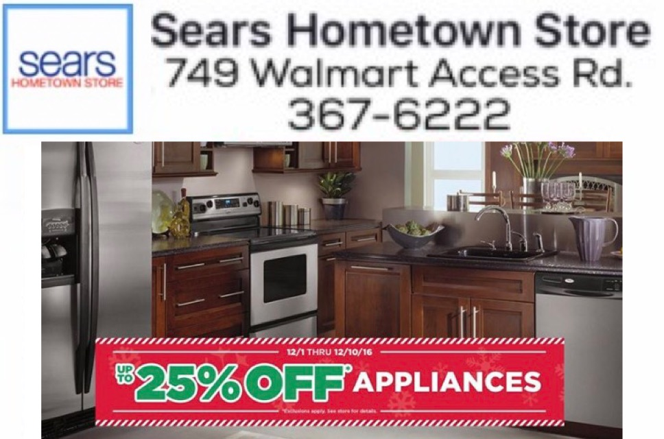 Sears outlet coupon appliance