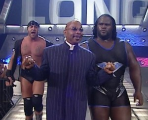 "Rodney Mack, Teddy Long, & ""the world's strongest man"" Mark Henry"