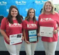 From left to right: Michele Roberts, Tiffany Barnard, Rena McCone.