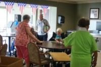 Some of the residents at Belleview playing bingo