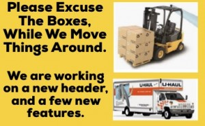 Please excuse the boxes