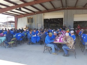 SeaArk Employees enjoying some good BBQ from Ray's