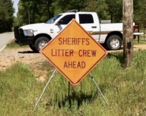 Sheriffs trash litter pick up crew