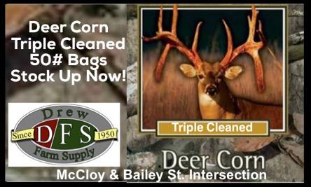 Drew farm supply deer corn