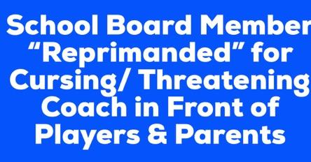 School board member reprimanded
