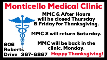 MMC & After Hours Holiday Schedule