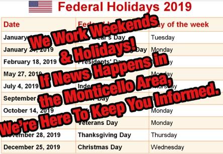 We Work Weekends  Holidays