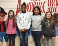 Fourth Grade:  Left to Right:  Javelynn Leeper, Alexis Woods, Daelynn Bennett, and Lorelei Dubreuil