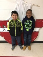 First Grade:  Left to Right:  Uriel Tinajero and Ivory Sykes